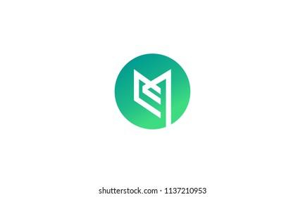 Initial logo design icon EM