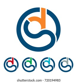 initial logo icon with combination of D & S