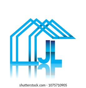 initial logo JL with house icon, business logo and property developer.