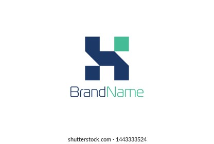 Initial Logo Letter H With Dark Blue Color