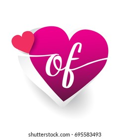 F love images stock photos vectors shutterstock initial logo letter of with heart shape red colored logo design for wedding invitation altavistaventures Images