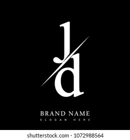 initial logo letter jd company name stock vector royalty free 1072988564 initial logo letter jd company name