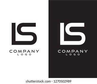 initial logo letter ls/sl/is/si with circle shape