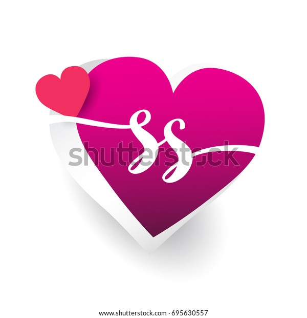 Initial Logo Letter Ss Heart Shape Stock Vector (Royalty Free) 695630557