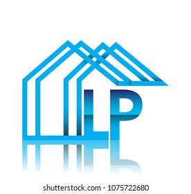 initial logo LP with house icon, business logo and property developer.