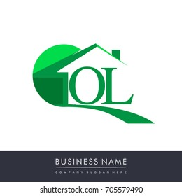 initial logo OL with house icon, business logo and property developer.
