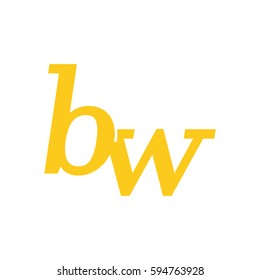 initial lowercase b and w yellow logo