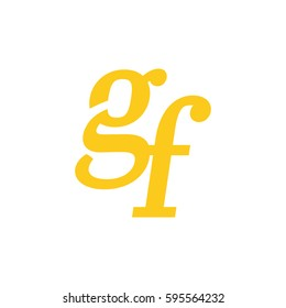 initial lowercase g and f yellow logo