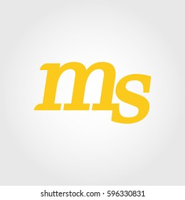 initial lowercase m and s yellow logo