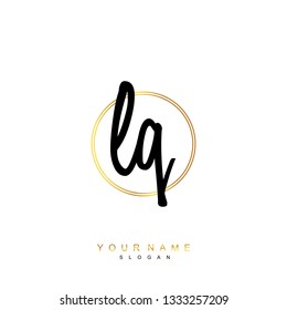 Initial LQ handwriting logo vector