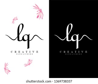 initial lq/ql handwriting logo template