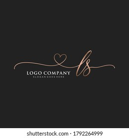 Initial LS beauty monogram and elegant logo design, handwriting logo of initial signature, wedding, fashion, floral and botanical with creative template.