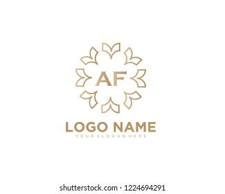 Initial luxury vector logo design template letter AF