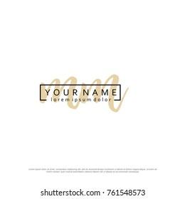 Initial M & M elegant logo template vector
