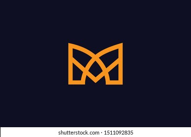 Initial M Letter Logo Design Vector Template. Monogram and Creative Alphabet MM Letters icon Illustration.