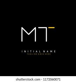 Initial M T minimalist modern logo identity vector