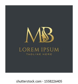 Initial MB Beauty Face Letter Logo Design Vector