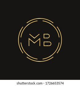 Initial MB letter Logo Design vector Template. Abstract Letter MB logo Design