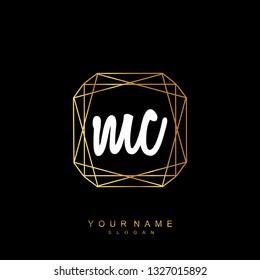 Initial MC handwriting logo vector