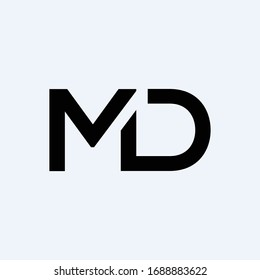 Initial MD letter Logo Design vector Template. Abstract Letter MD logo Design