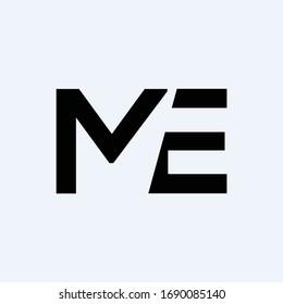 Initial ME letter Logo Design vector Template. Abstract Letter ME logo Design
