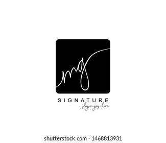 Initial MG beauty monogram and elegant logo design, handwriting logo of initial signature, wedding, fashion, floral and botanical with creative template.
