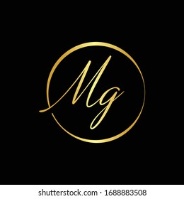 Initial MG letter Logo Design vector Template. Abstract Letter MG logo Design