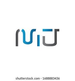 Initial MJ letter Logo Design vector Template. Abstract Letter MJ logo Design