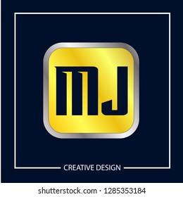 Initial MJ Letter Logo Template Design