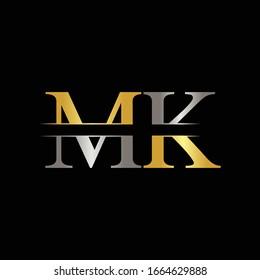 Initial MK letter Logo Design vector Template. Abstract Letter MK logo Design