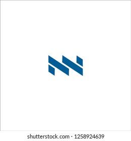 initial MN letter linked logo vector blaue