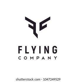 Initial / Monogram FC Flight Wings logo design inspiration