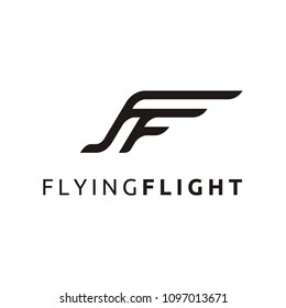 Initial / Monogram FF for Plane / Flying Flight logo design inspiration