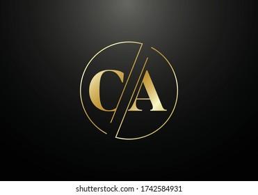 Initial Monogram Letter CA Logo Design Vector Template. CA Letter Logo Design
