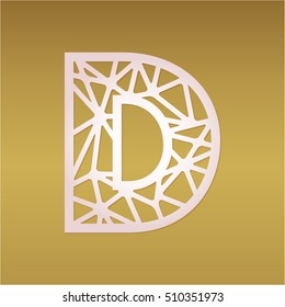 Fancy letter d images stock photos vectors shutterstock initial monogram letter d with abstract geometrical pattern may be used for laser cutting altavistaventures Image collections