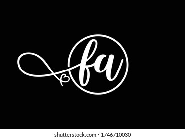 Initial Monogram Letter FA Logo Design Vector Template. FA Letter Logo Design