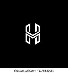 initial monogram letter HM concept template vector logo design
