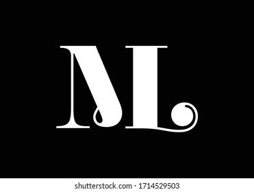 Initial Monogram Letter M L Logo Design Vector Template. ML Letter Logo Design