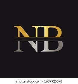 Initial Monogram Letter NB Logo Design Vector Template. NB Letter Logo Design