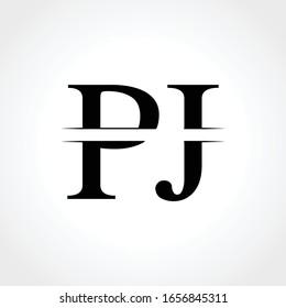 Initial Monogram Letter PJ Logo Design Vector Template. Abstract PJ Letter Logo Design