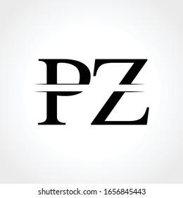 Initial Monogram Letter PZ Logo Design Vector Template. Abstract PZ Letter Logo Design