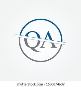 Initial Monogram Letter QA Logo Design Vector Template. QA Letter Logo Design