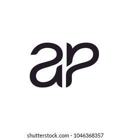 initial monogram lettering AP; A and P logo design inspiration