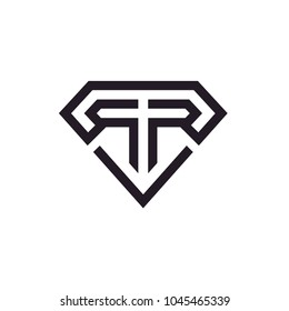 Initial Monogram R & R logo design with Diamond Shape