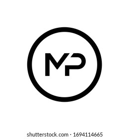 Initial MP letter Logo Design vector Template. Abstract Letter MP logo Design