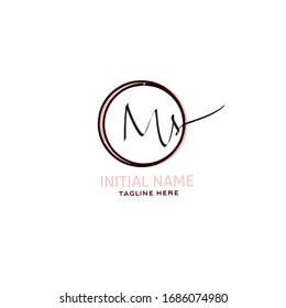 Initial Ms handwriting logo vector