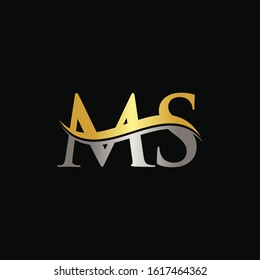 Initial MS letter Logo Design vector Template. Abstract Letter MS logo Design