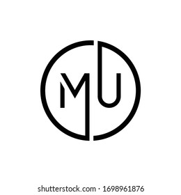 Initial MU letter Logo Design vector Template. Abstract Letter MU logo Design