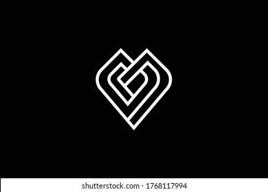 Initial MV VM modern monogram and elegant logo design, Professional Letters Vector Icon Logo on black background.