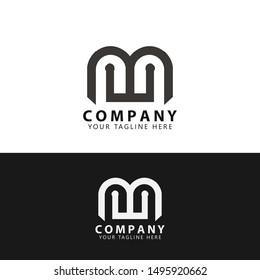 Initial MW Technology Logo Design vector